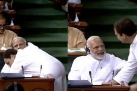 Image result for rahul gandhi hug modi