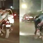 Image result for Delhi couple makes out while riding bike, IPS officer shares video